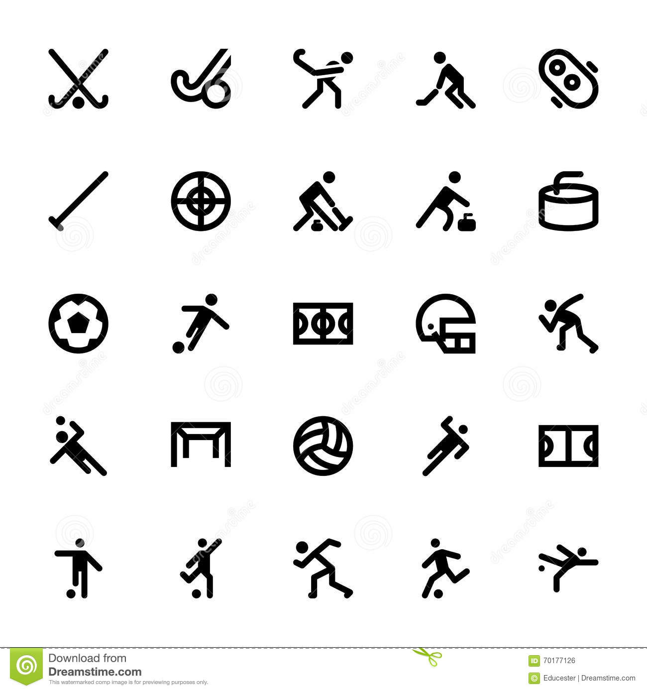 Sports And Games Vector Icons 10 Stock Illustration