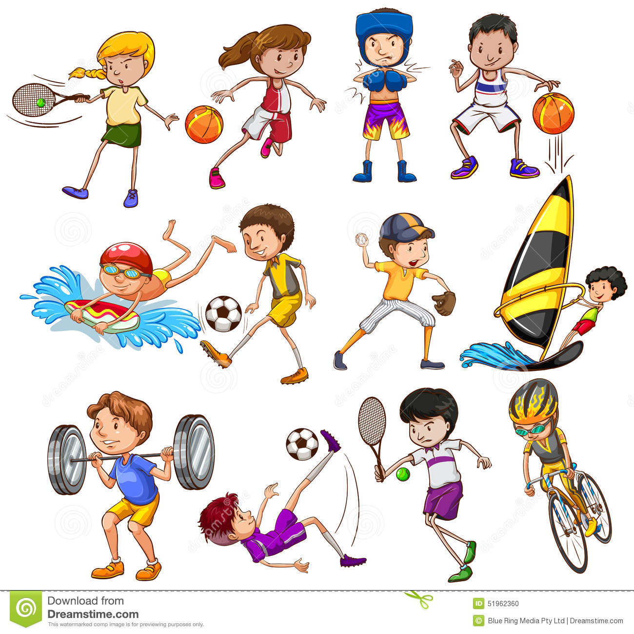 Sports Stock Vector Illustration Of Exercise Clipart