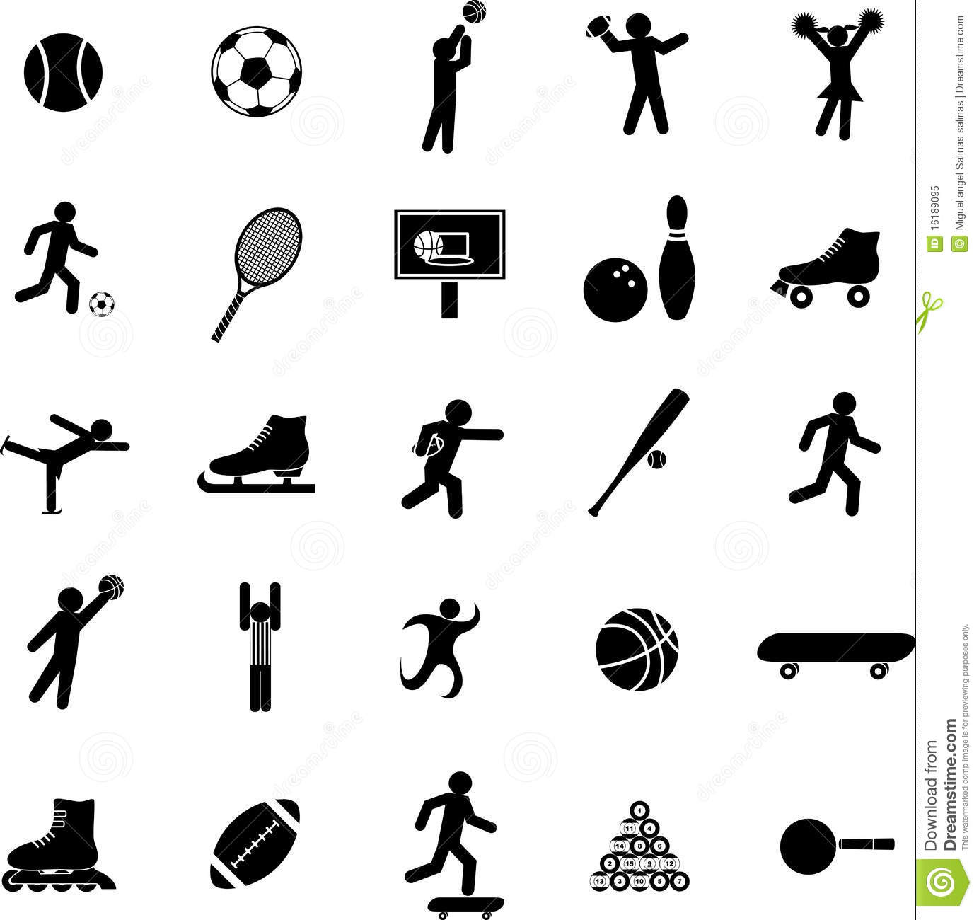 Sports Vector Symbols Or Icons Set Royalty Free Stock