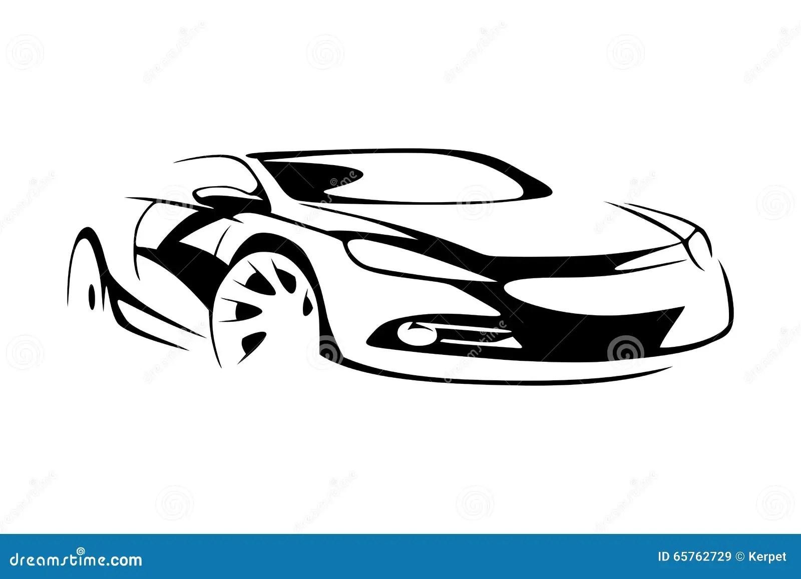 Sportwagensilhouet Vector Illustratie Illustratie