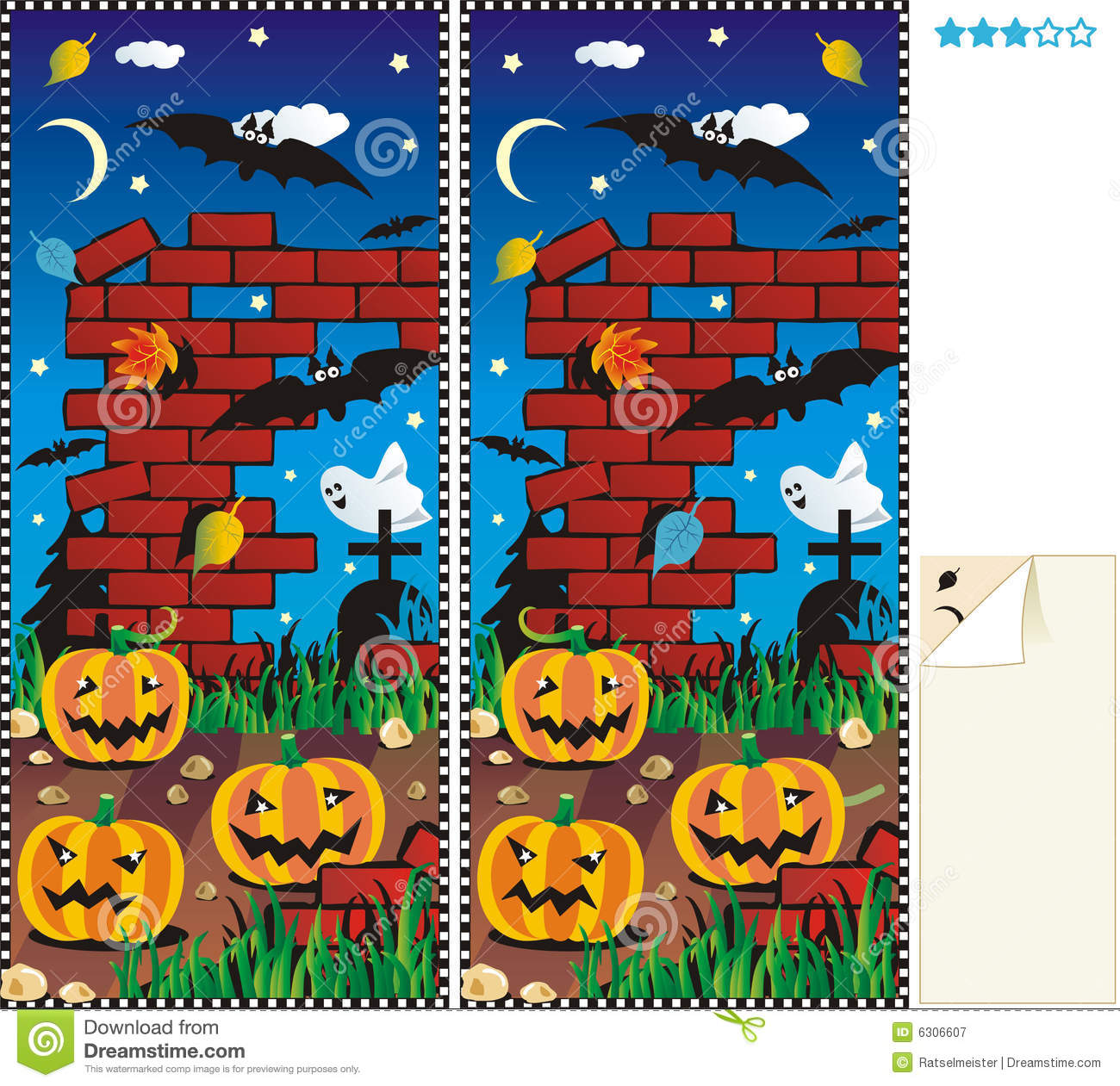 Halloween Spot The Difference Worksheets