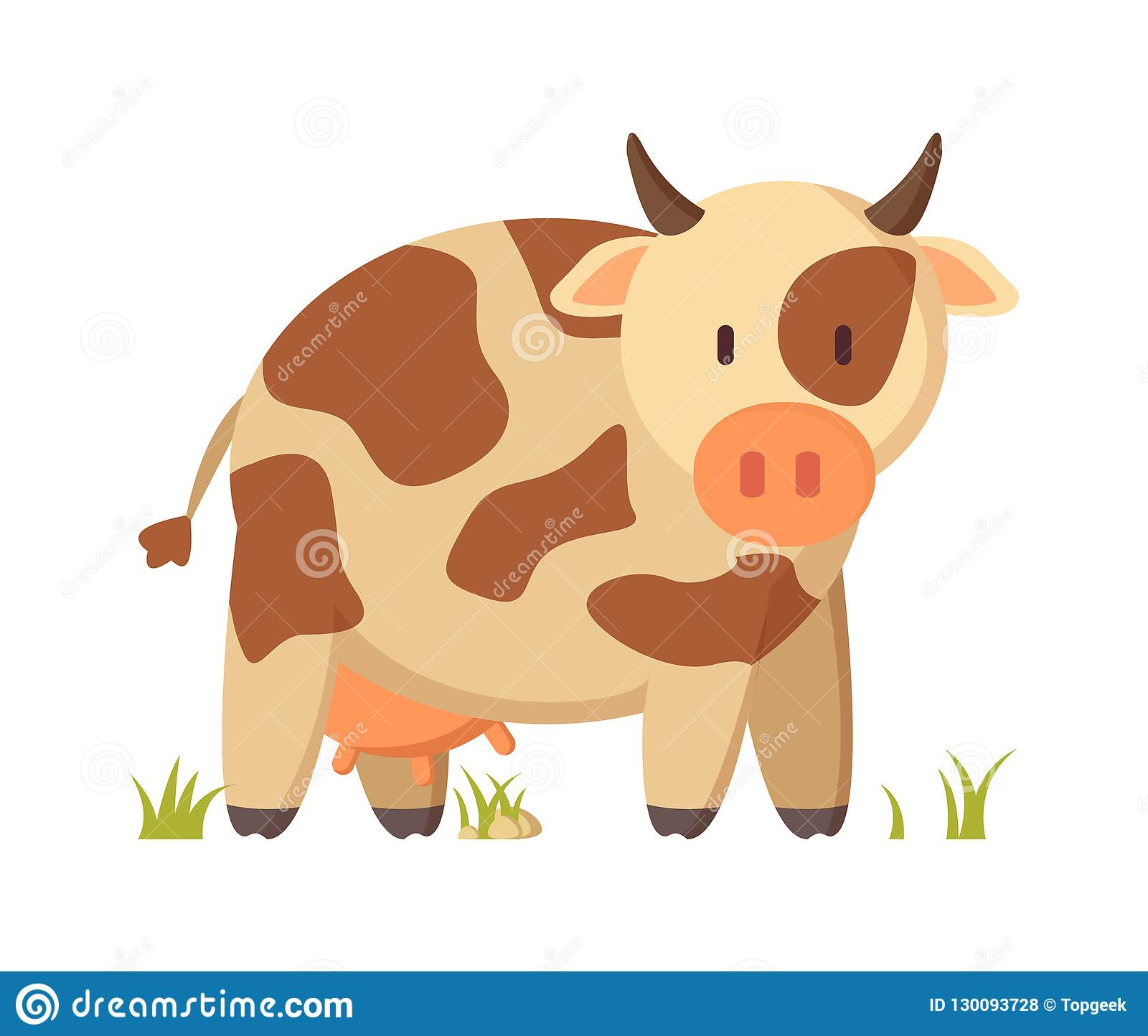 hight resolution of spotted cow farm animal cartoon depiction poster