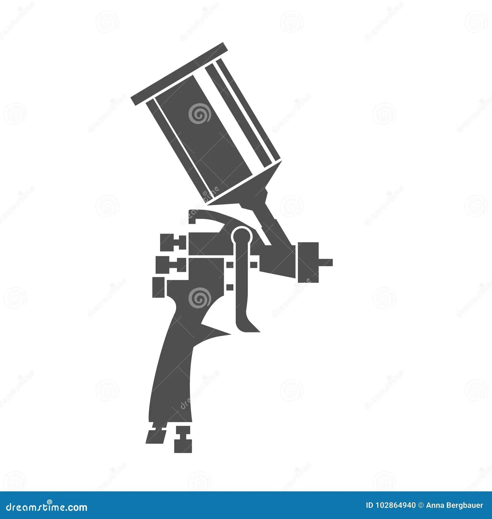 Spray Gun Icon Stock Vector Illustration Of Aerograph