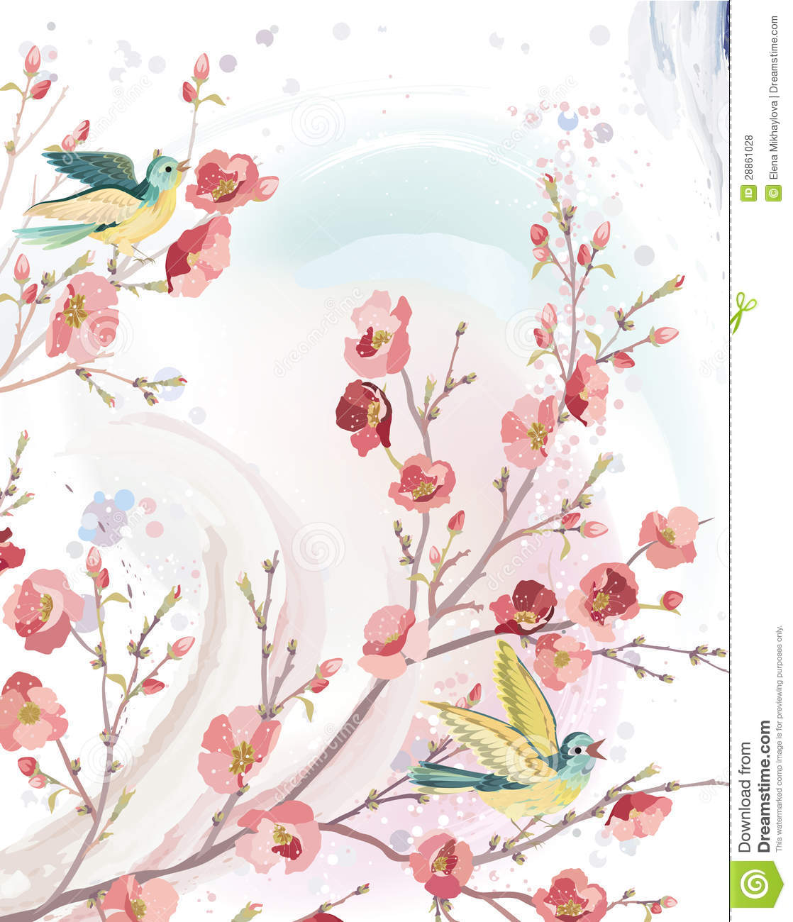 Spring Card Royalty Free Stock Photos Image 28861028