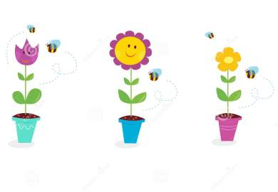 Cartoon Flower Garden Flowers Cartoon Garden