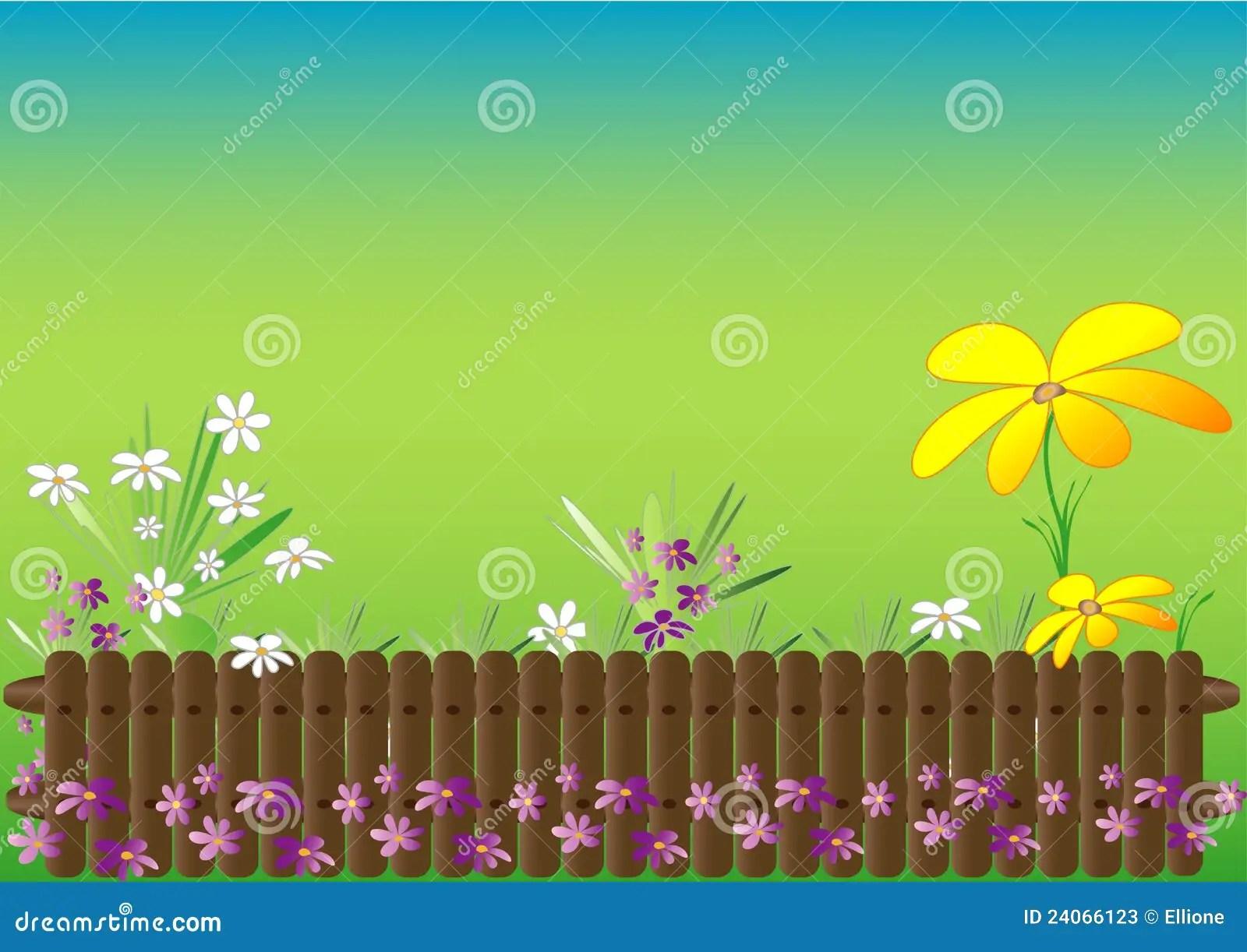 Spring Garden Theme Stock Vector Illustration Of Grass
