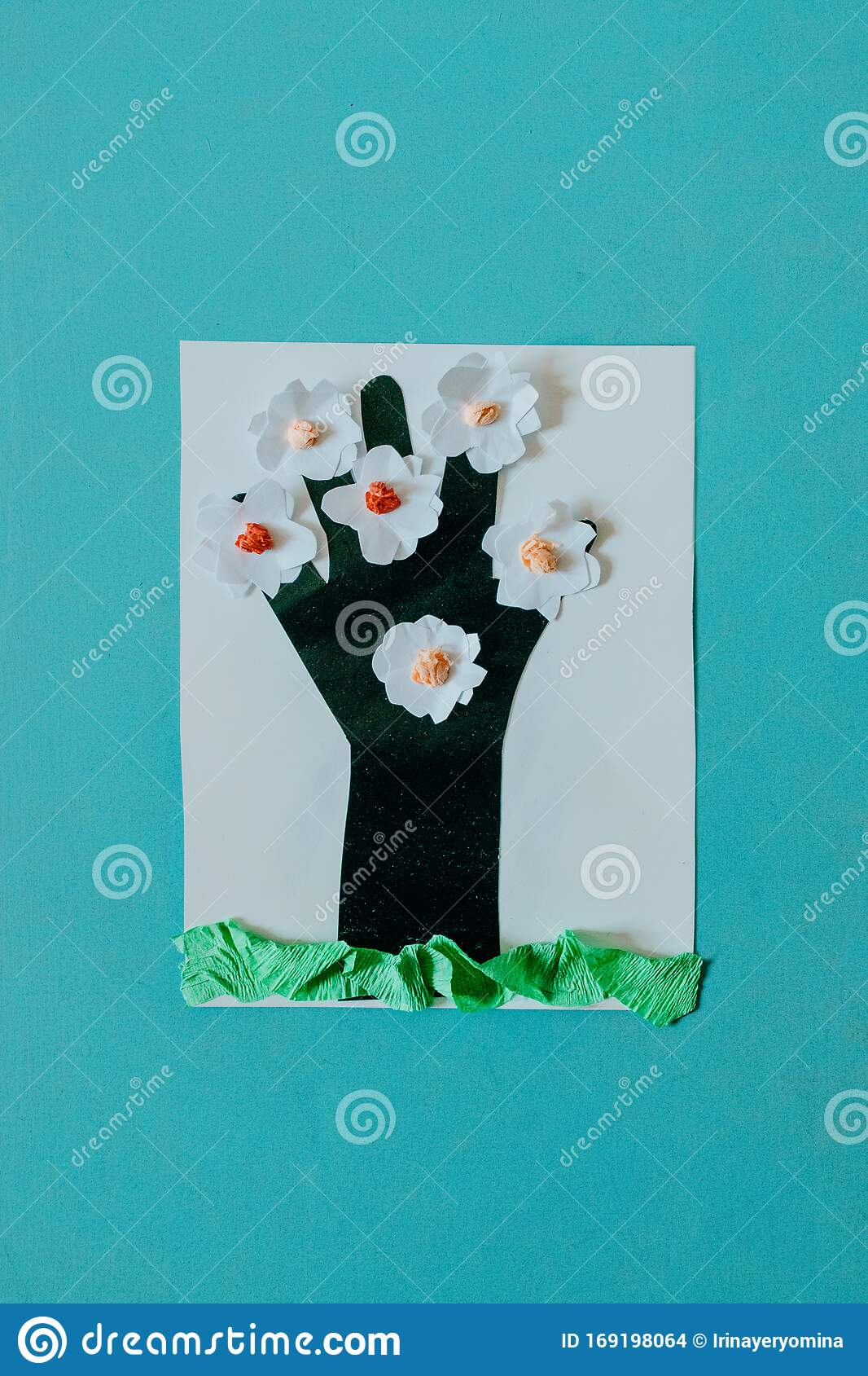 Spring Summer Diy Kid Paper Craft Ideas Preschool Activities Easy Crafts Ideas Creative Paper Projects For Kids Fun Stock Photo Image Of Collage Colored 169198064