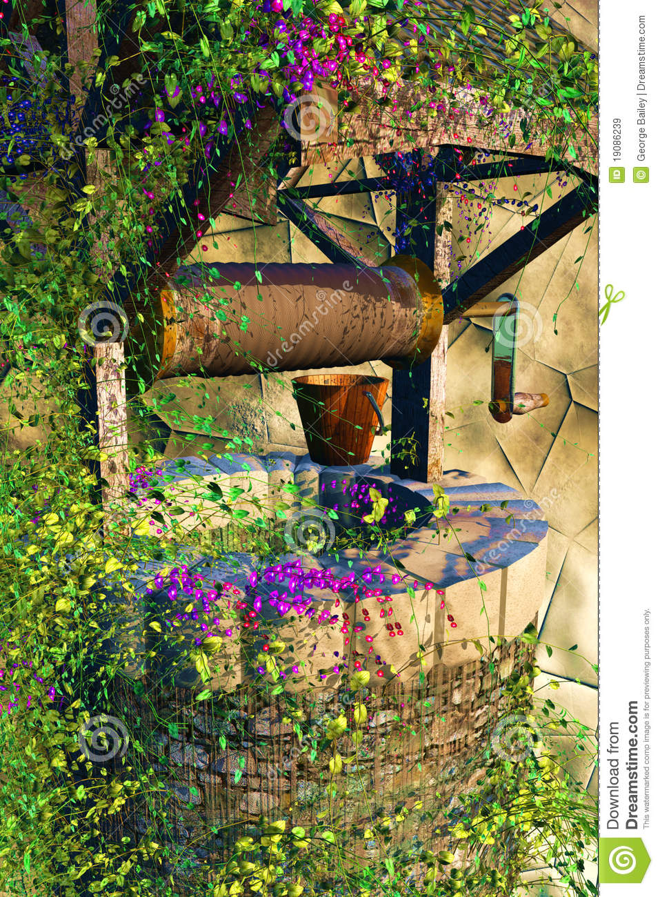 Spring Wishing Well Royalty Free Stock Images Image 19086239