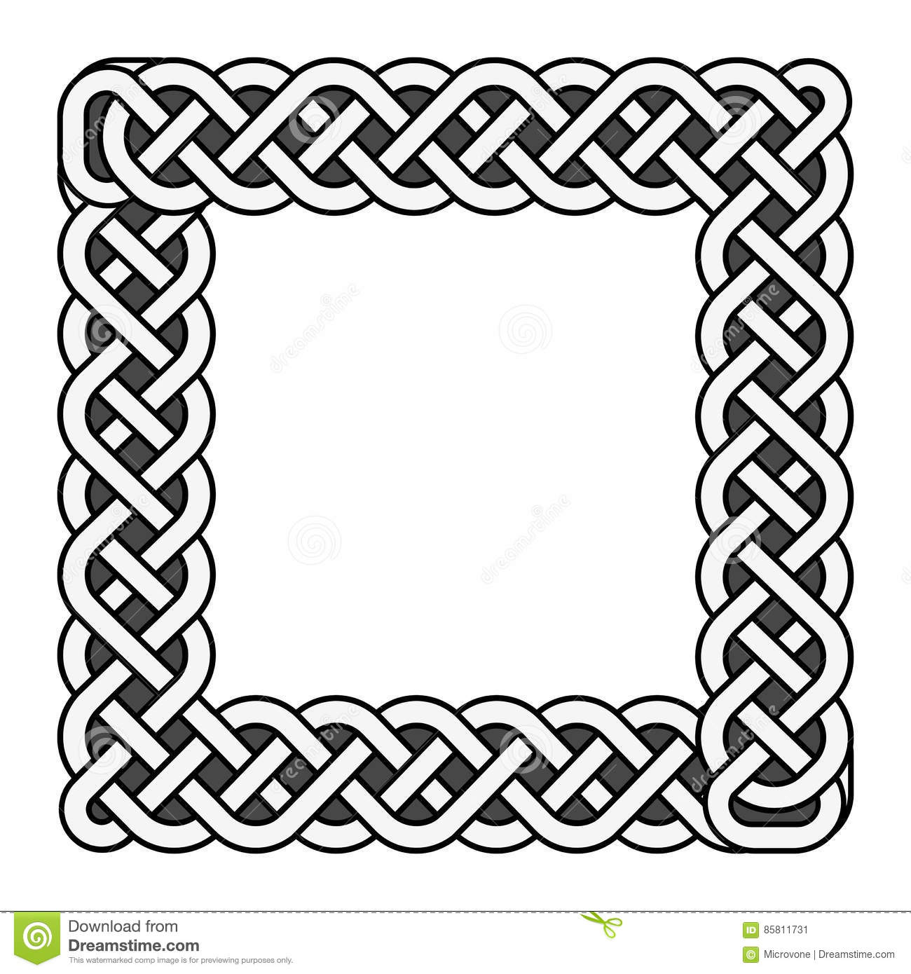 Square Celtic Knots Vector Me Val Frame In Black And