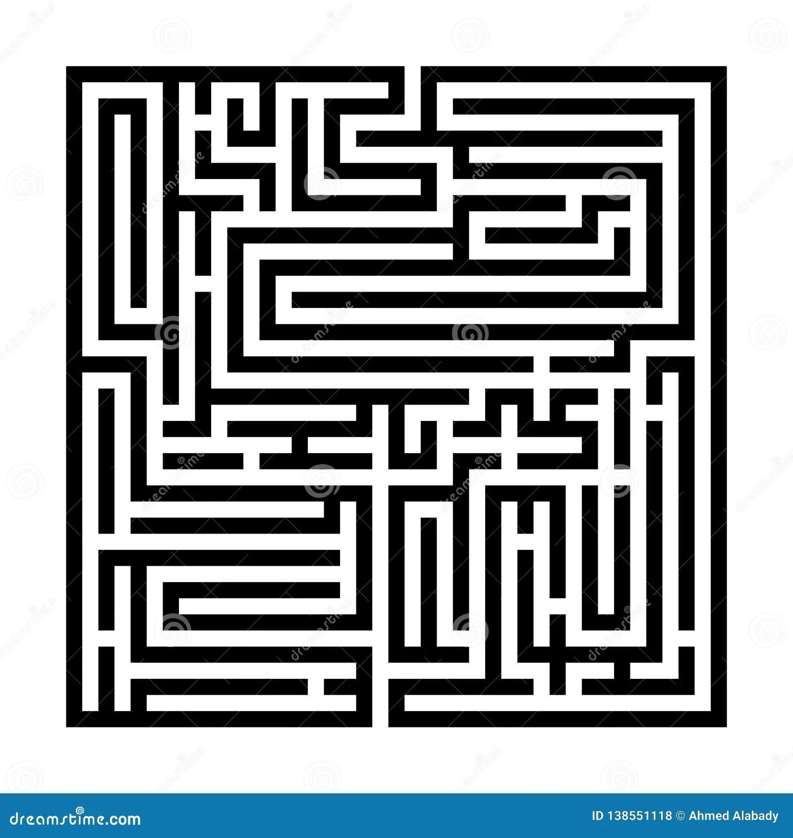 Maze For Kids Cartoon Vector