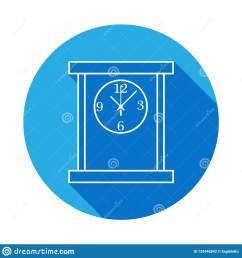 square table clock line icon clock icon with long shadow premium quality graphic design signs symbols collection simple icon for websites web design  [ 1600 x 1690 Pixel ]