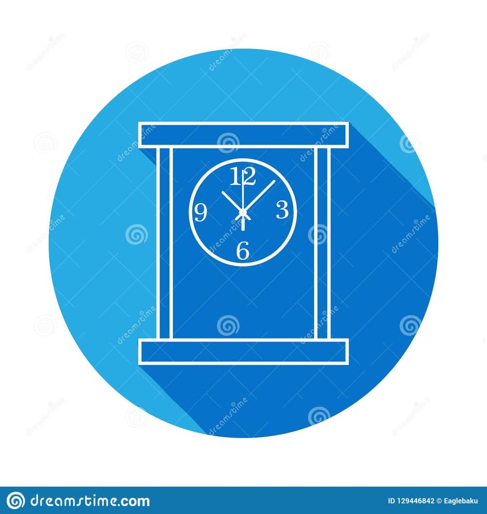 medium resolution of square table clock line icon clock icon with long shadow premium quality graphic design signs symbols collection simple icon for websites web design