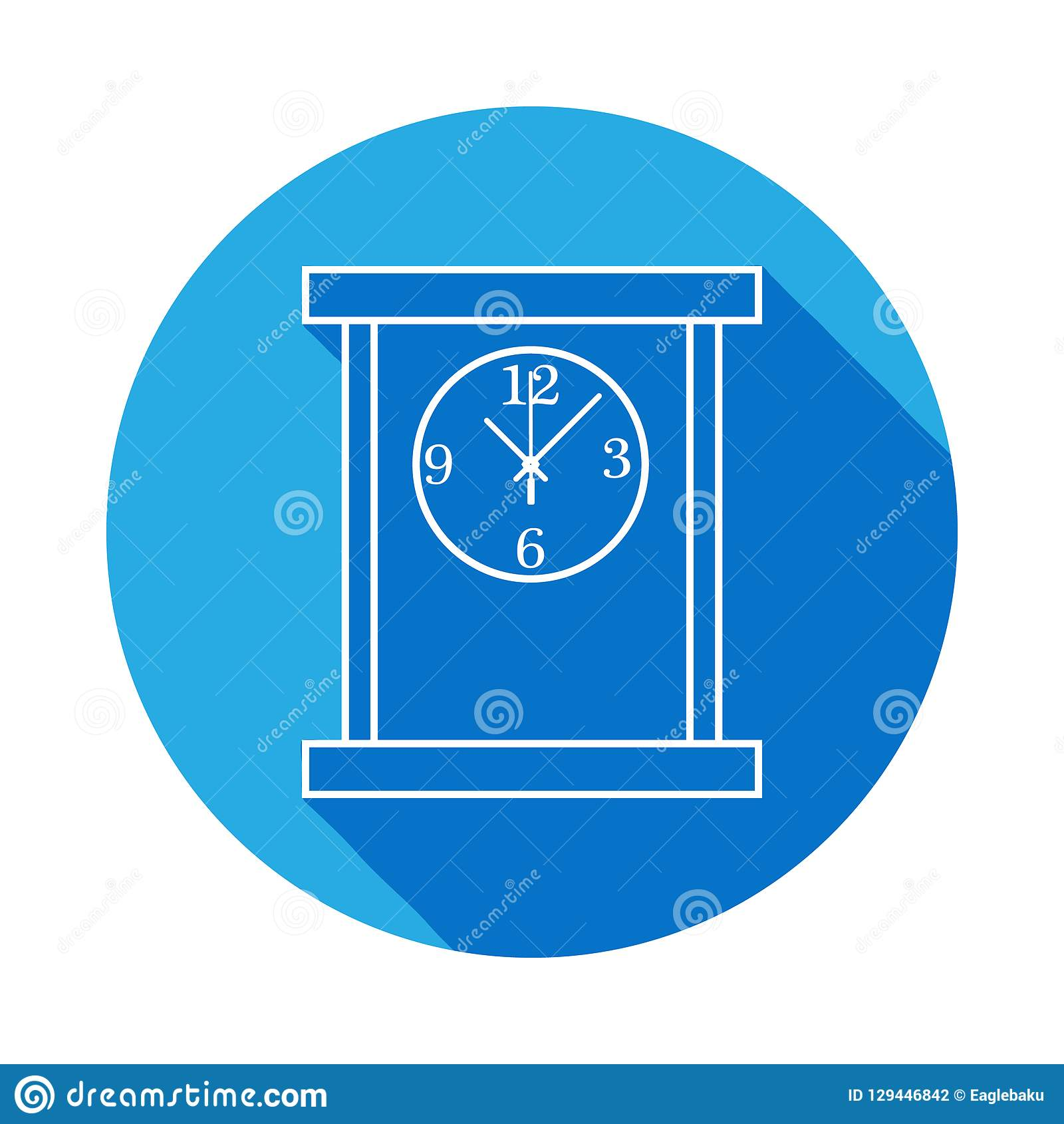 hight resolution of square table clock line icon clock icon with long shadow premium quality graphic design signs symbols collection simple icon for websites web design