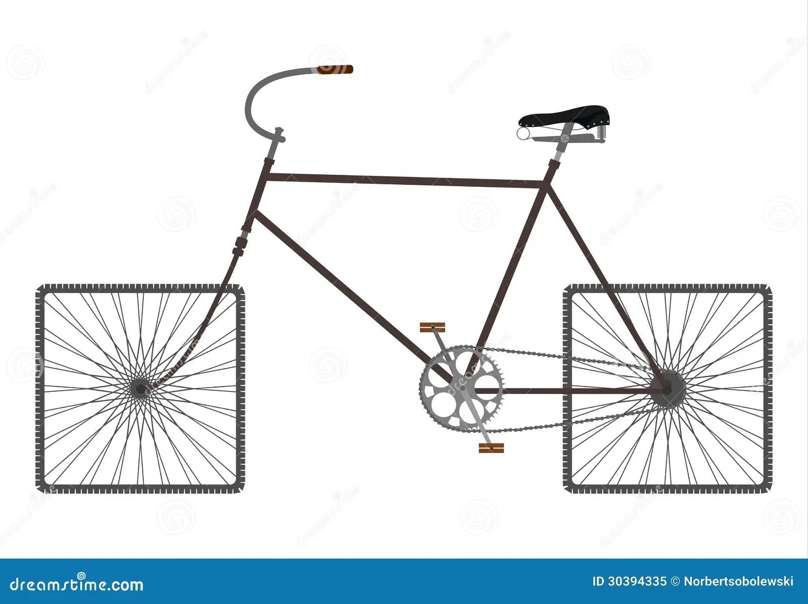 Square Wheels Bike Royalty Free Stock Photo