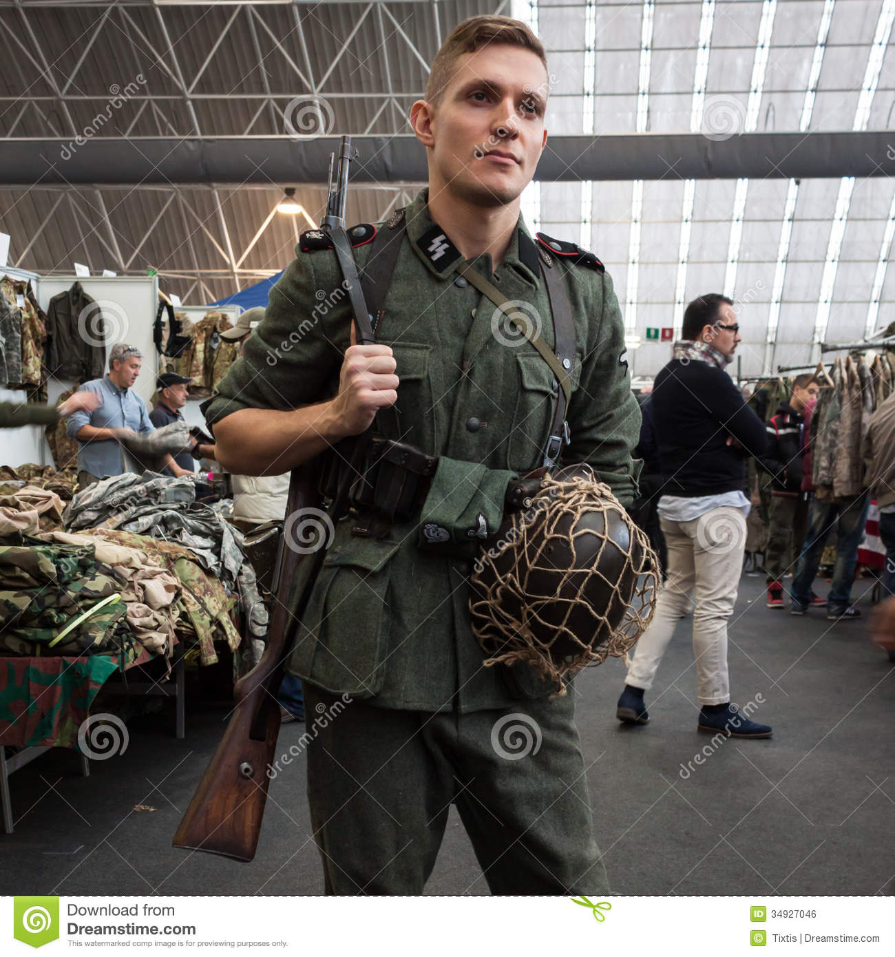 SS Soldier At Militalia 2013 In Milan Italy Editorial