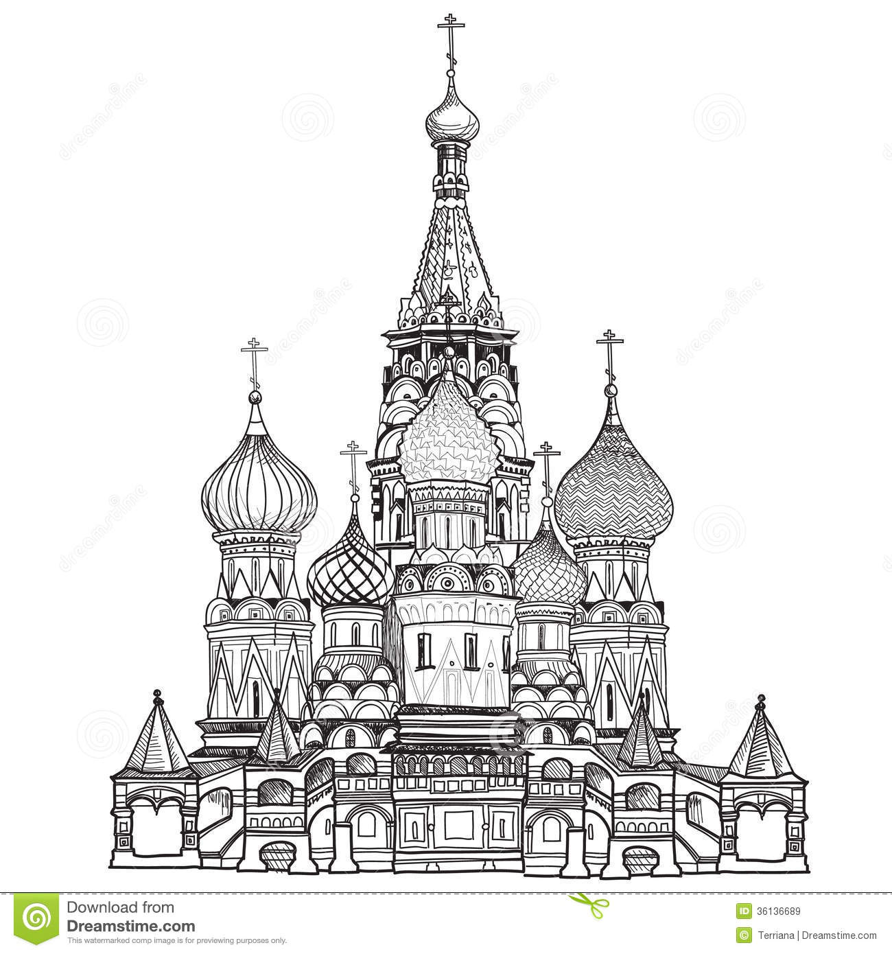 St Basil Cathedral Rood Vierkant Moskou Rusland