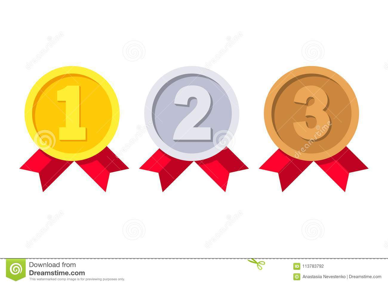 1st 2nd And 3rd Places Stock Vector Illustration Of