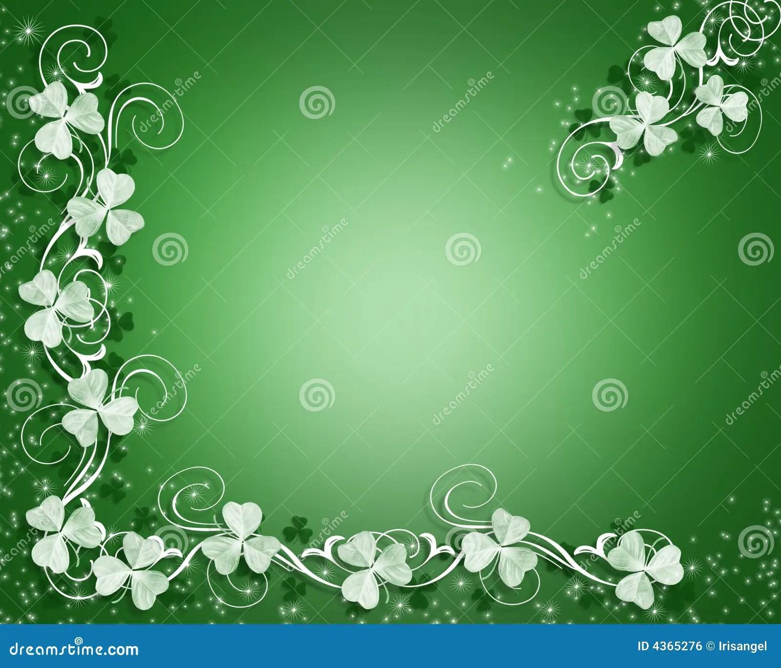 St Patricks Day Sparkle Border Stock Illustration Image