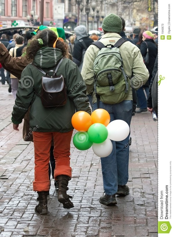 St. Patricks Day Walk Stock - 1940673