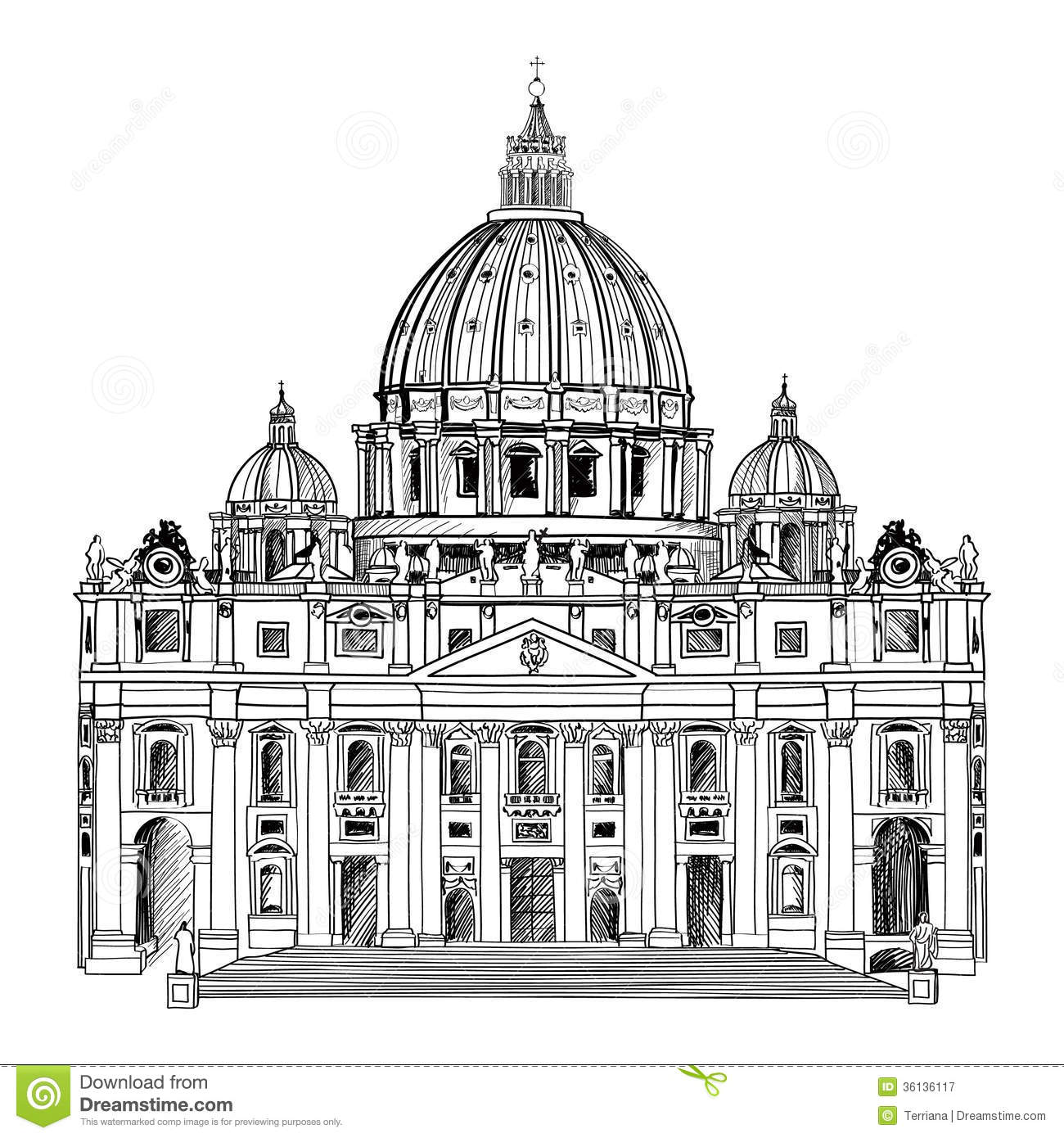 St Peter Cathedral Rom Italien Beruhmter Markstein