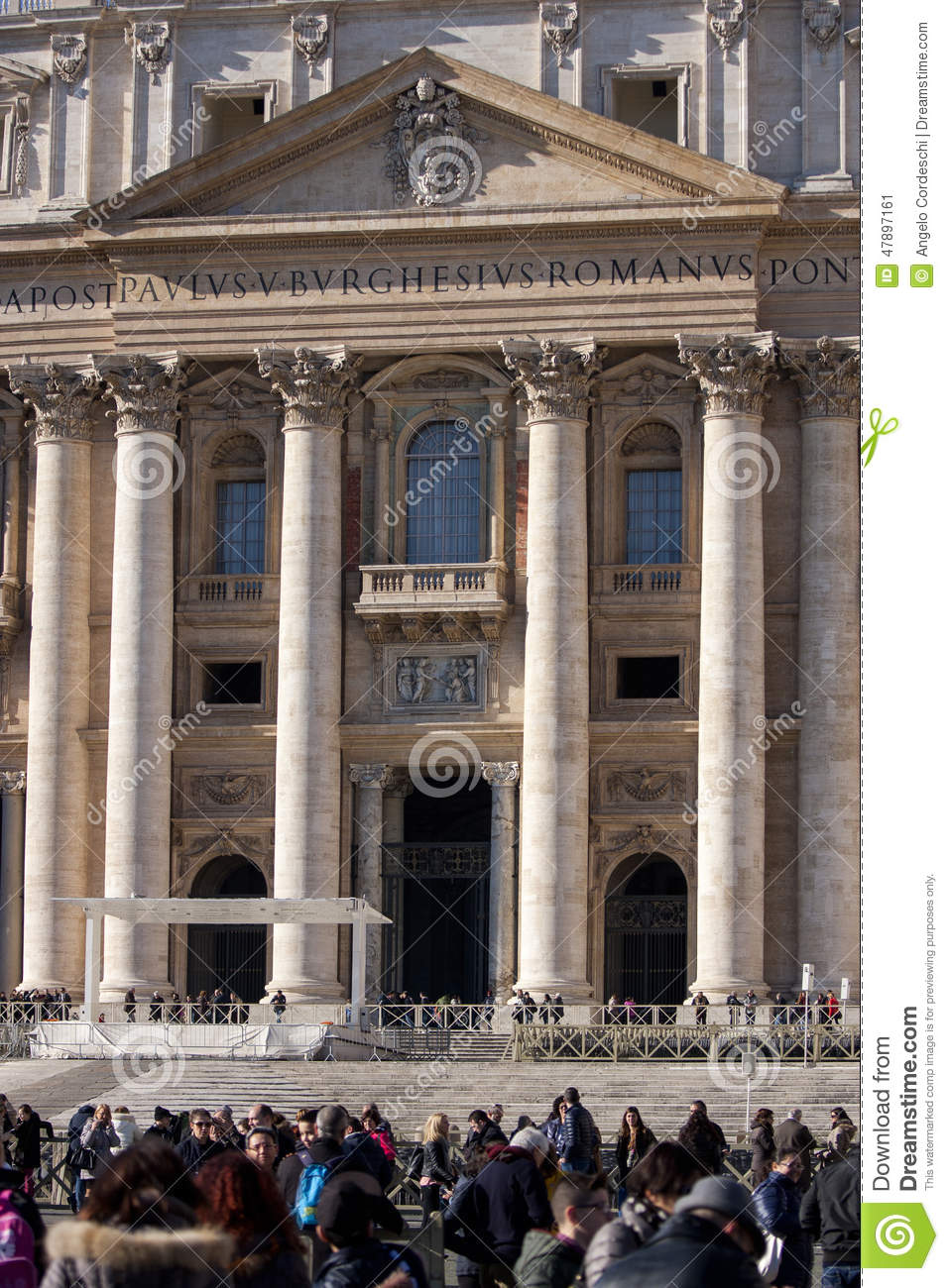 St Peter Vatican City Rome  Italy Entrance Editorial