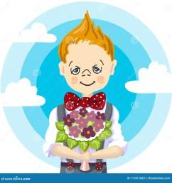 1st september school day education smile school boy blond hair who take a bouquet [ 1300 x 1390 Pixel ]