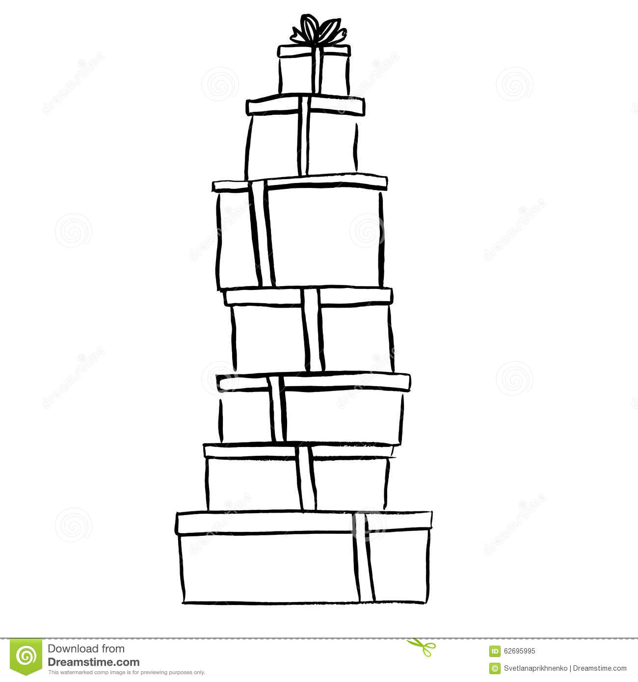 Stack Of Christmas Ts Stock Vector Illustration Of