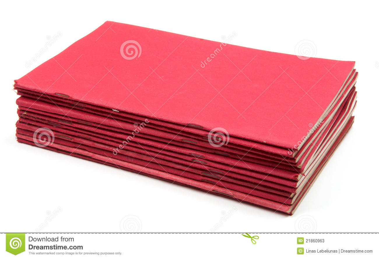 Stack Of Old Exercise Books Stock Image  Image of fall