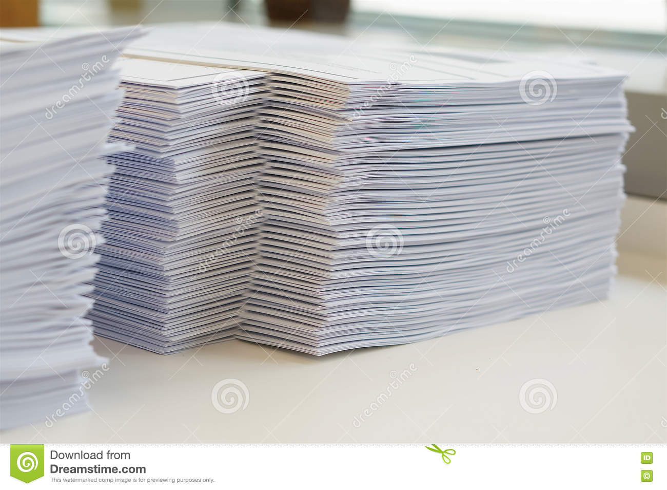 Stack Of Papers Worksheet Stock Image Image Of Pile