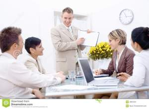 Staff meeting at office stock image Image of businessgroup  4687523