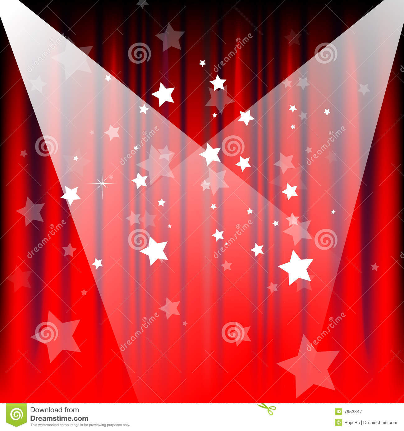 Stage Curtains Royalty Free Stock Photography  Image 7953847