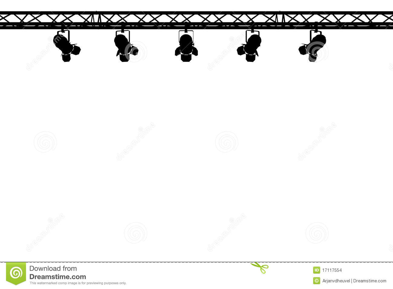 Stage Lights Silhouette Stock Illustration Illustration