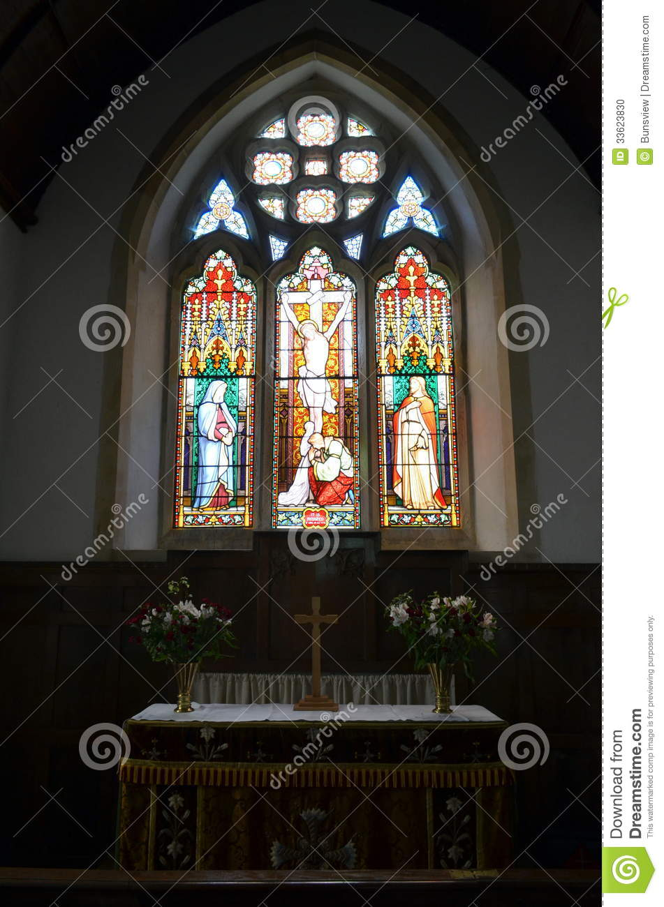 Stained Glass Church Window Stock Photo  Image 33623830