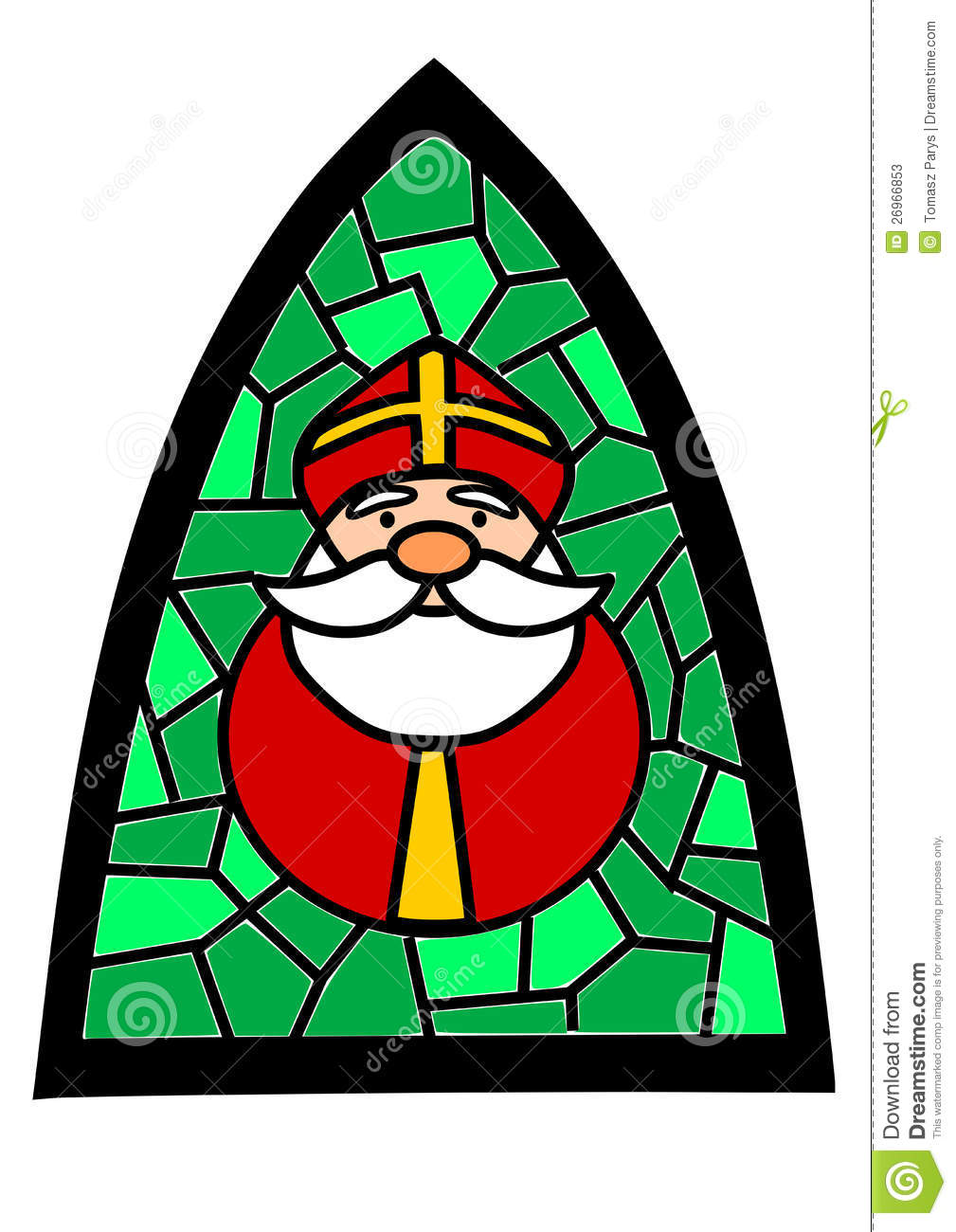 Stained Glass With Santa Claus Stock Photos Image 26966853