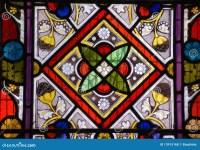 Stained Glass Window - Geometric Pattern Stock Photo ...
