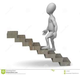 stairs cartoon 3d royalty illustration render character preview dreamstime