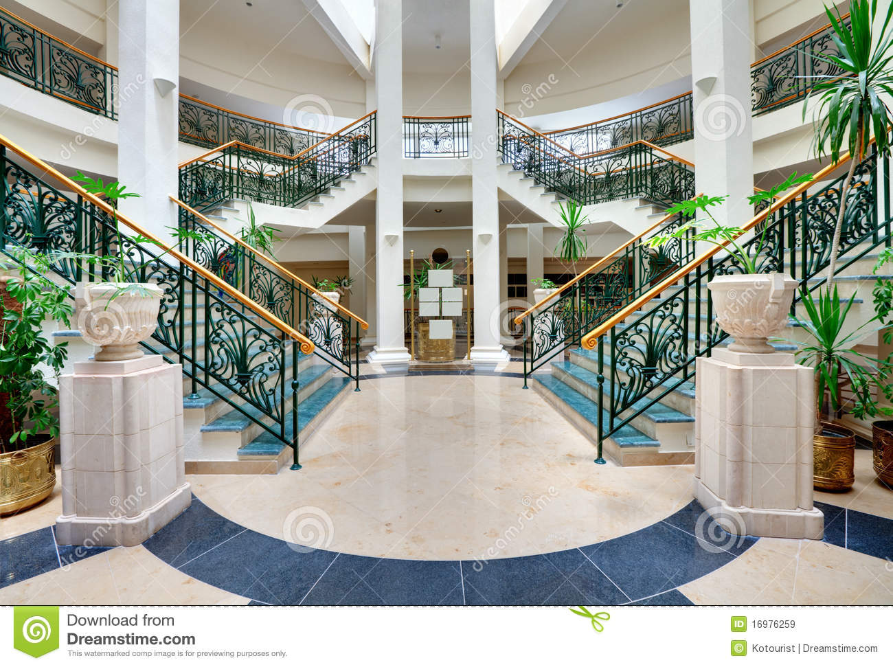 Stairs With Forged Handrails Royalty Free Stock Images