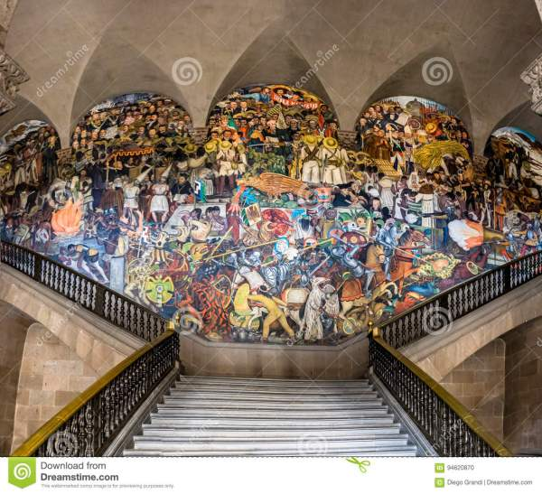 Diego Rivera Murals National Palace Mexico City