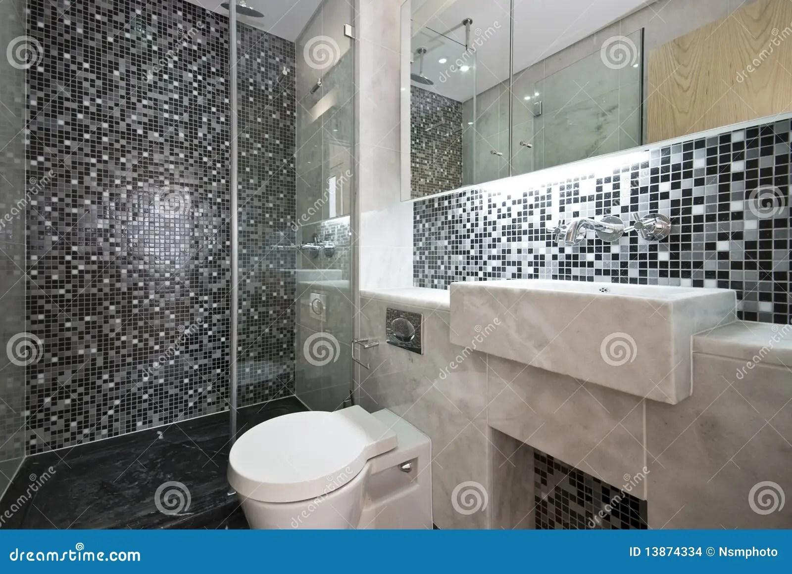 Stanza Da Bagno Lussuosa In In Bianco E Nero Fotografia