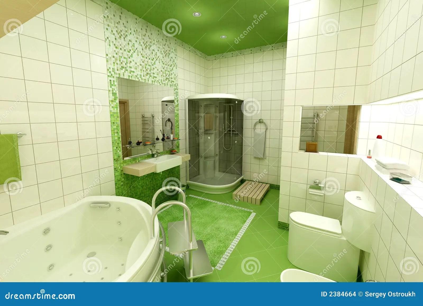 Stanza da bagno verde fotografia stock Immagine di bathroom  2384664