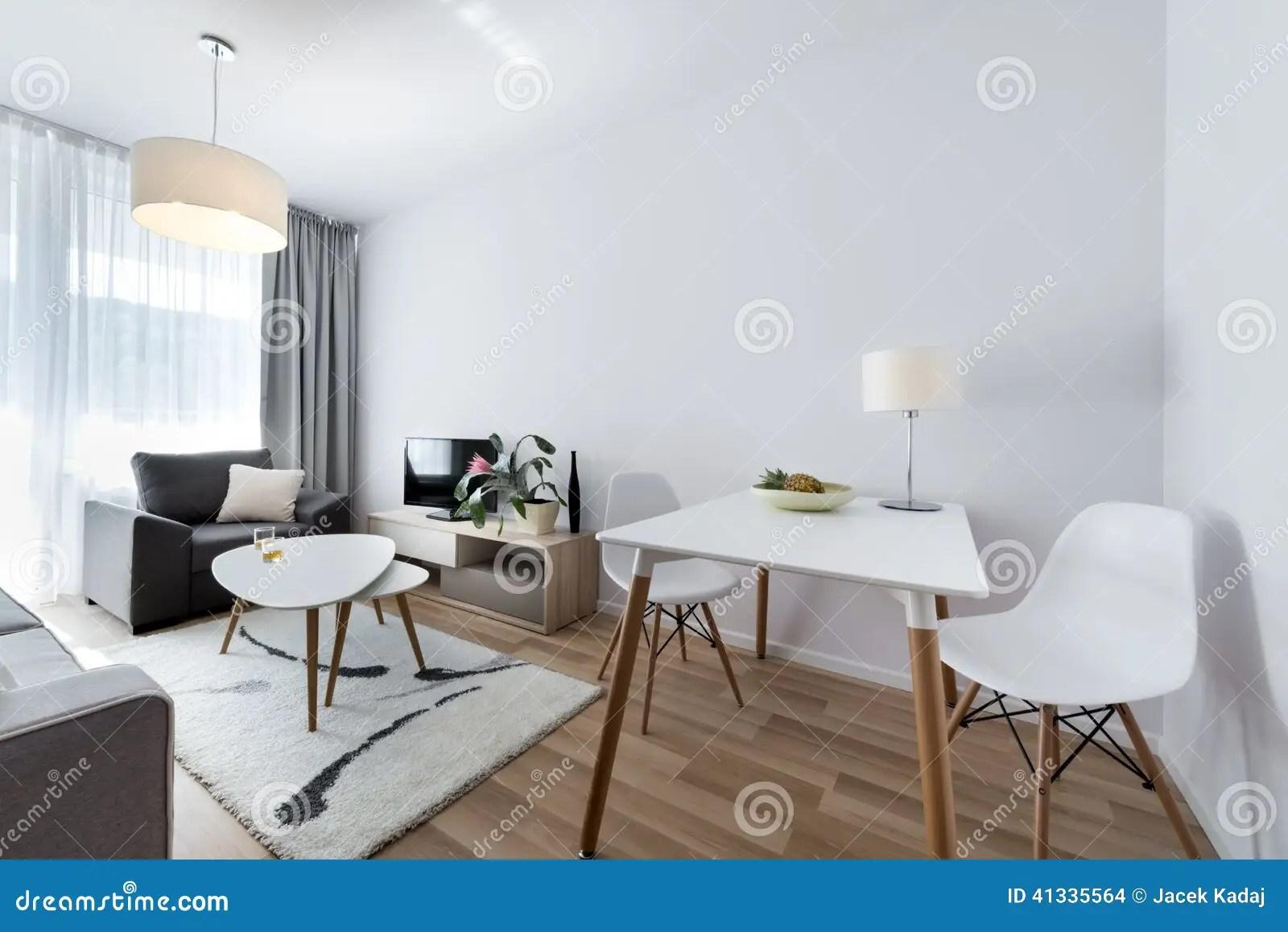 Stanza Moderna Di Interior Design Nello Stile Scandinavo