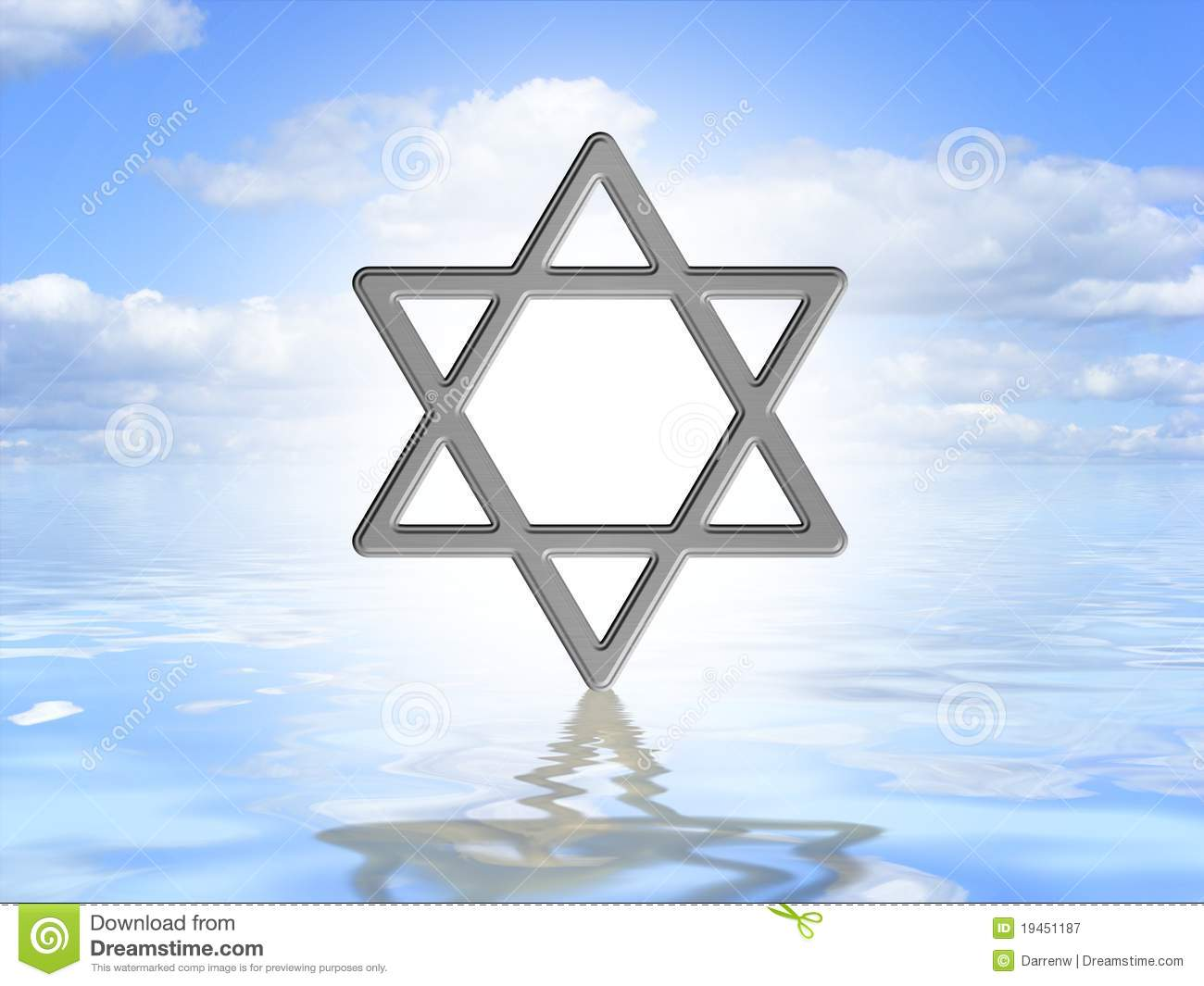 Star Of David On Water Royalty Free Stock Photography