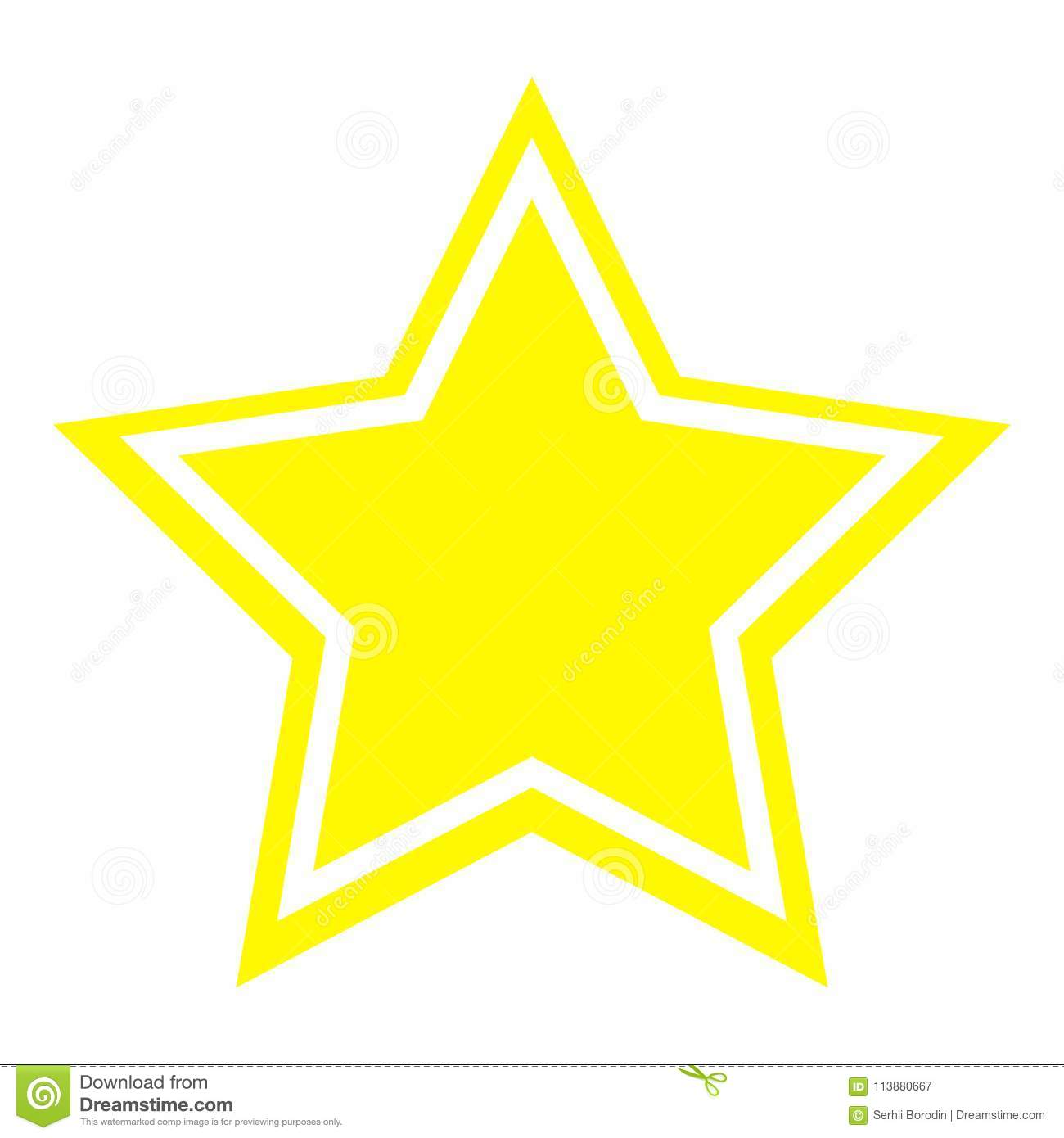 Star Icon Yellow Color Stock Vector Illustration Of Mark