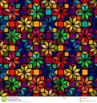 Star Shape Colorful Geometric Stained Glass Seamless ...