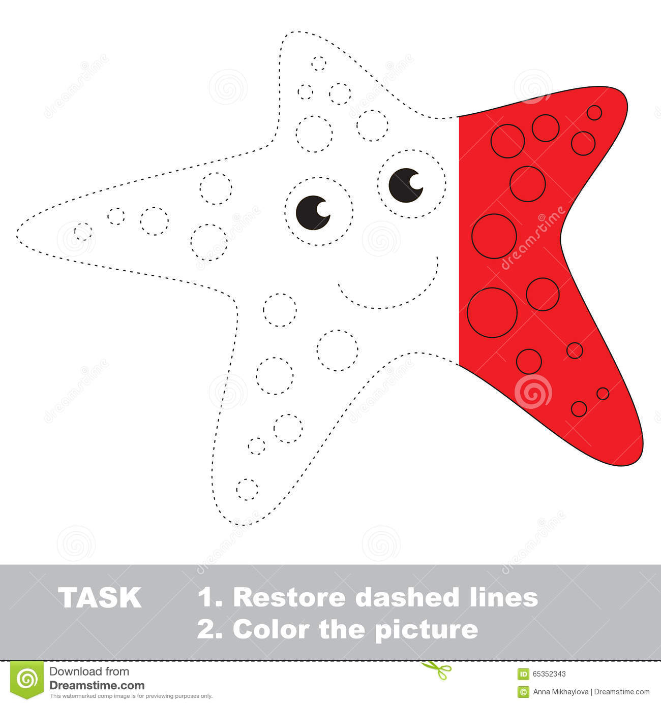 Starfish Coloring Worksheet