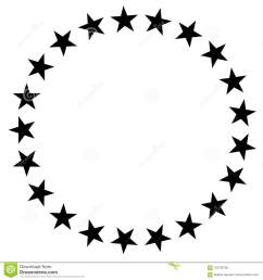 stars in circle icon on white background stars in circle design for diagram infographics chart presentation app ui flat style stars border frame  [ 1300 x 1390 Pixel ]