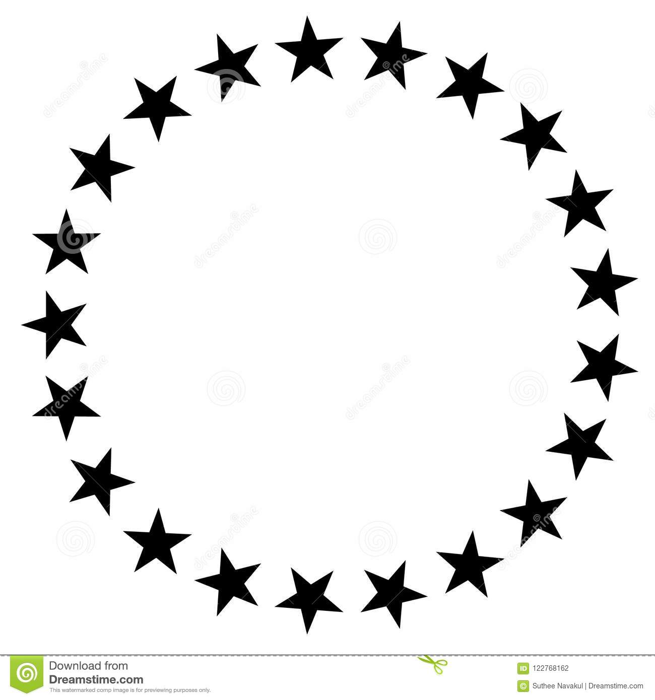 hight resolution of stars in circle icon on white background stars in circle design for diagram infographics chart presentation app ui flat style stars border frame