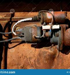 starter wiring and ignition on an old tractor stock image image of lawn tractor starter solenoid wiring diagram tractor starter wiring [ 1600 x 1156 Pixel ]