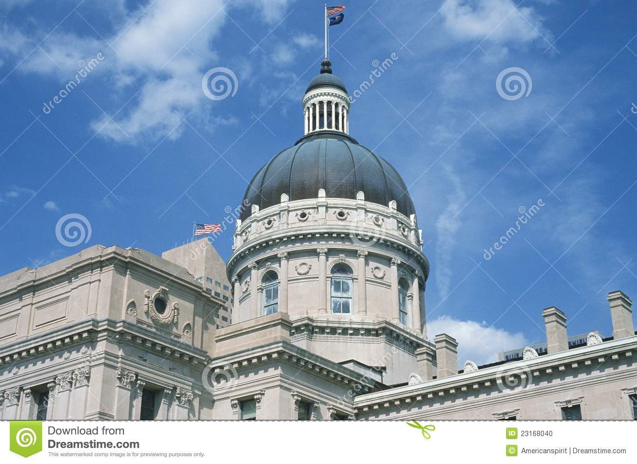 State Capitol Of Indiana Stock Photo Image Of History