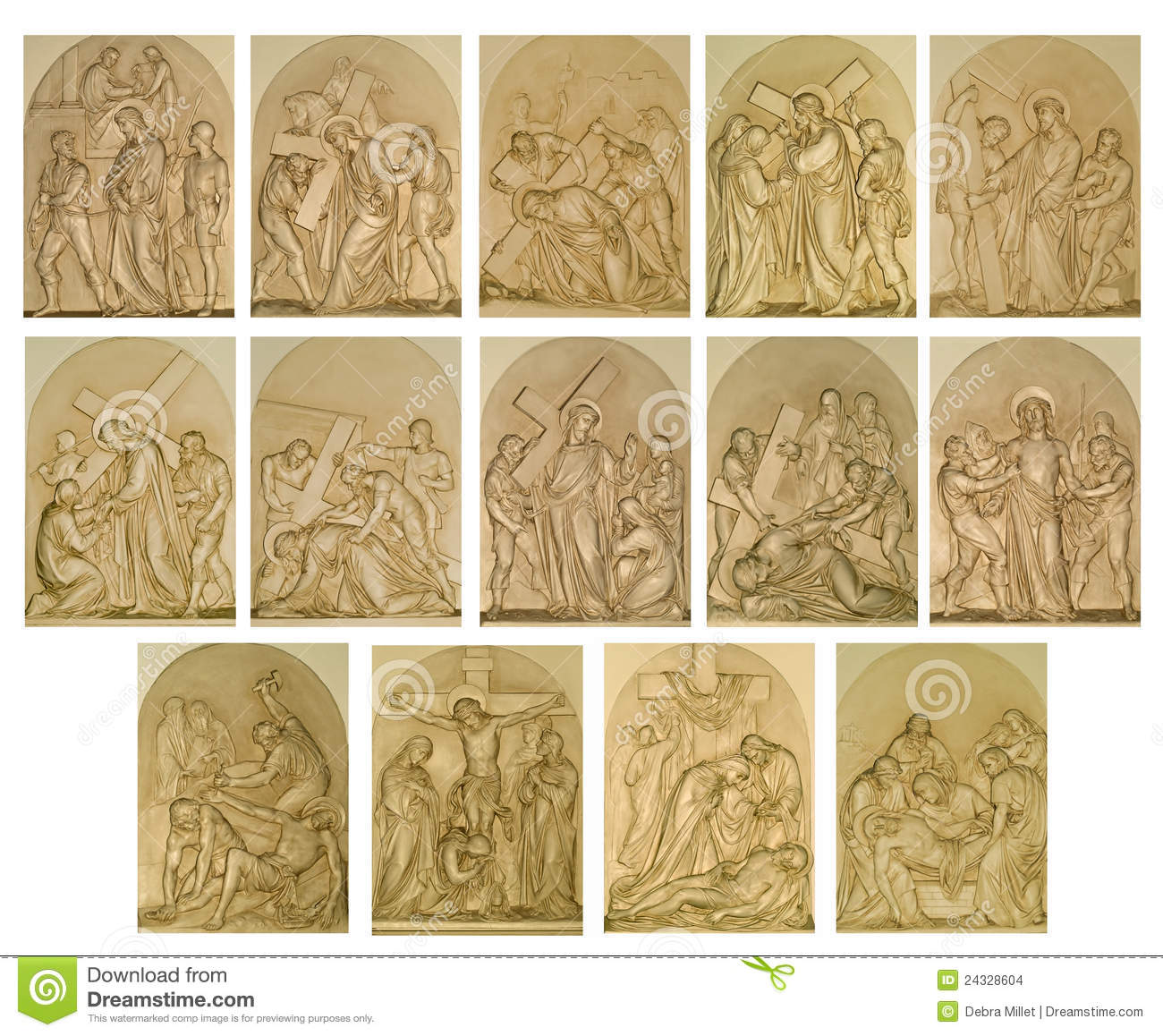 hight resolution of the stations of the cross